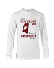 WEST VIRGINIA GIRL LIVING IN MISSISSIPPI WORLD Long Sleeve Tee thumbnail
