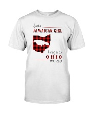 JAMAICAN GIRL LIVING IN OHIO WORLD Classic T-Shirt front