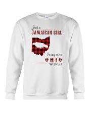 JAMAICAN GIRL LIVING IN OHIO WORLD Crewneck Sweatshirt thumbnail