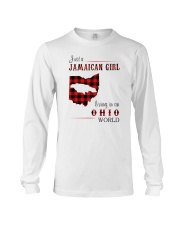 JAMAICAN GIRL LIVING IN OHIO WORLD Long Sleeve Tee thumbnail