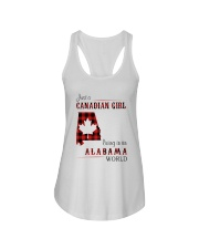 CANADIAN GIRL LIVING IN ALABAMA WORLD Ladies Flowy Tank tile