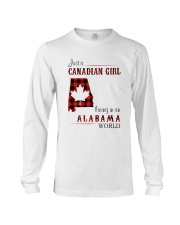 CANADIAN GIRL LIVING IN ALABAMA WORLD Long Sleeve Tee tile