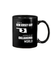 JUST A JERSEY GUY LIVING IN OKLAHOMA WORLD Mug thumbnail