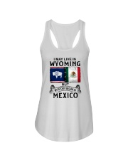 LIVE IN WYOMING BEGAN IN MEXICO Ladies Flowy Tank thumbnail