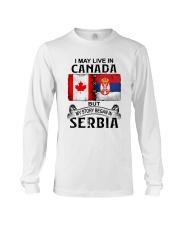 LIVE IN CANADA BEGAN IN SERBIA  Long Sleeve Tee thumbnail