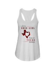 OHIO GIRL LIVING IN TEXAS WORLD Ladies Flowy Tank thumbnail