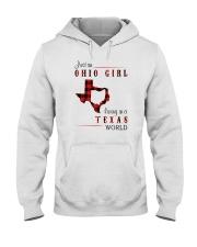 OHIO GIRL LIVING IN TEXAS WORLD Hooded Sweatshirt thumbnail