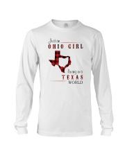 OHIO GIRL LIVING IN TEXAS WORLD Long Sleeve Tee thumbnail