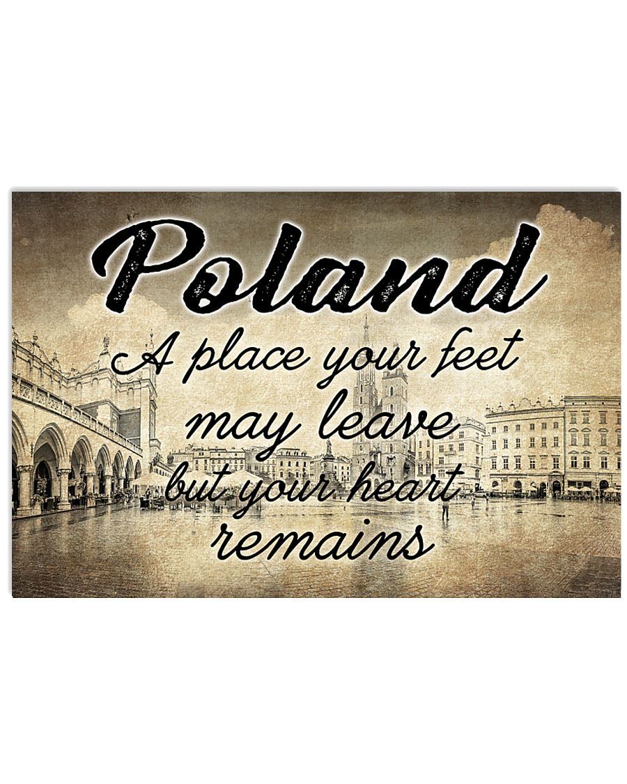 POLAND A PLACE YOUR HEART REMAINS 24x16 Poster
