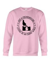 MICHIGAN GIRL LIVING IN IDAHO WORLD Crewneck Sweatshirt thumbnail
