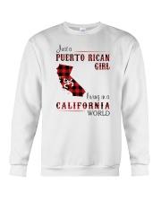 PUERTO RICAN GIRL LIVING IN CALIFORNIA WORLD Crewneck Sweatshirt thumbnail