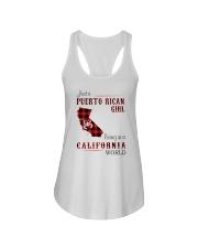 PUERTO RICAN GIRL LIVING IN CALIFORNIA WORLD Ladies Flowy Tank thumbnail