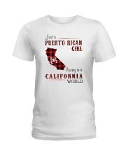 PUERTO RICAN GIRL LIVING IN CALIFORNIA WORLD Ladies T-Shirt thumbnail