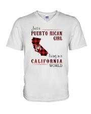 PUERTO RICAN GIRL LIVING IN CALIFORNIA WORLD V-Neck T-Shirt thumbnail