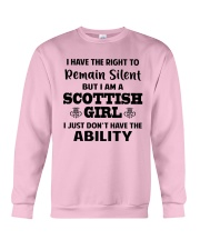 I'M A SCOTTISH GIRL I JUST DON'T HAVE ABILITY Crewneck Sweatshirt thumbnail