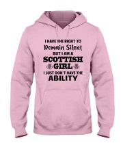 I'M A SCOTTISH GIRL I JUST DON'T HAVE ABILITY Hooded Sweatshirt thumbnail