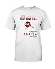 NEW YORK GIRL LIVING IN ALASKA WOLRD Classic T-Shirt front