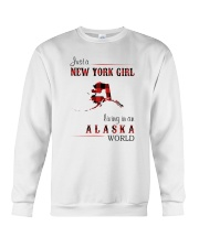 NEW YORK GIRL LIVING IN ALASKA WOLRD Crewneck Sweatshirt thumbnail