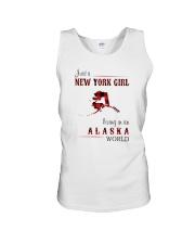 NEW YORK GIRL LIVING IN ALASKA WOLRD Unisex Tank thumbnail