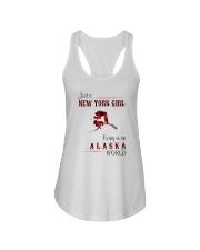 NEW YORK GIRL LIVING IN ALASKA WOLRD Ladies Flowy Tank thumbnail