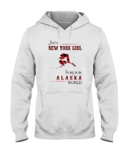 NEW YORK GIRL LIVING IN ALASKA WOLRD Hooded Sweatshirt thumbnail