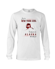 NEW YORK GIRL LIVING IN ALASKA WOLRD Long Sleeve Tee thumbnail