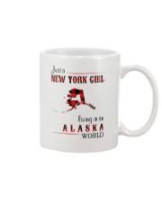 NEW YORK GIRL LIVING IN ALASKA WOLRD Mug thumbnail