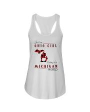 OHIO GIRL LIVING IN MICHIGAN WORLD Ladies Flowy Tank thumbnail