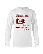 COLORADO GIRL LIVING IN PENNSYLVANIA WORLD Long Sleeve Tee thumbnail
