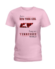 NEW YORK GIRL LIVING IN TENNESSEE WORLD Ladies T-Shirt thumbnail