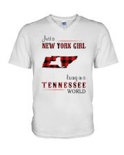 NEW YORK GIRL LIVING IN TENNESSEE WORLD V-Neck T-Shirt thumbnail