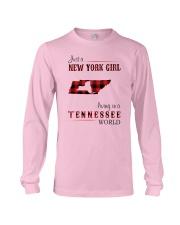 NEW YORK GIRL LIVING IN TENNESSEE WORLD Long Sleeve Tee thumbnail