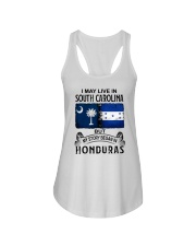 LIVE IN SOUTH CAROLINA BEGAN IN HONDURAS Ladies Flowy Tank thumbnail