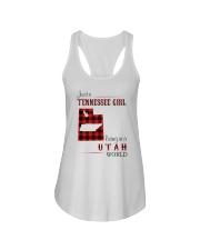 TENNESSEE GIRL LIVING IN UTAH WORLD Ladies Flowy Tank thumbnail