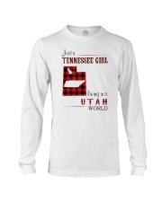 TENNESSEE GIRL LIVING IN UTAH WORLD Long Sleeve Tee thumbnail