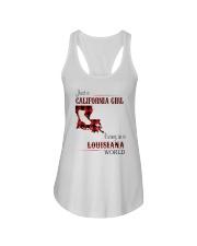 CALIFORNIA GIRL LIVING IN LOUISIANA WORLD Ladies Flowy Tank thumbnail