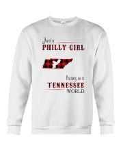 PHILLY GIRL LIVING IN TENNESSEE WORLD Crewneck Sweatshirt thumbnail