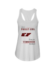 PHILLY GIRL LIVING IN TENNESSEE WORLD Ladies Flowy Tank thumbnail