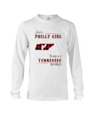PHILLY GIRL LIVING IN TENNESSEE WORLD Long Sleeve Tee thumbnail