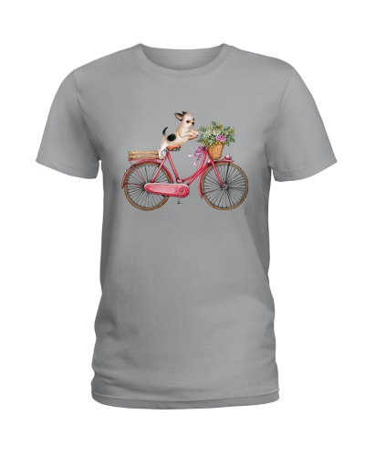 CHIHUAHUA RUNNING BICYCLE