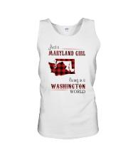 MARYLAND GIRL LIVING IN WASHINGTON WORLD Unisex Tank thumbnail