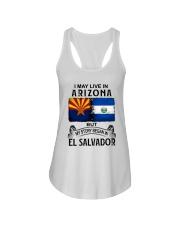 LIVE IN ARIZONA BEGAN IN EL SALVADOR Ladies Flowy Tank thumbnail