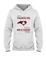 CANADIAN GIRL LIVING IN NORTH CAROLINA WORLD Hooded Sweatshirt thumbnail