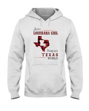 LOUISIANA GIRL LIVING IN TEXAS WORLD Hooded Sweatshirt thumbnail