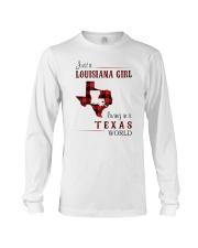 LOUISIANA GIRL LIVING IN TEXAS WORLD Long Sleeve Tee thumbnail
