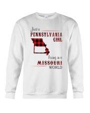 PENNSYLVANIA GIRL LIVING IN MISSOURI WORLD Crewneck Sweatshirt thumbnail