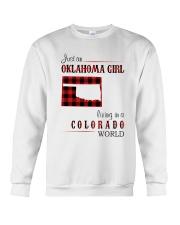 OKLAHOMA GIRL LIVING IN COLORADO WORLD Crewneck Sweatshirt thumbnail
