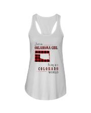 OKLAHOMA GIRL LIVING IN COLORADO WORLD Ladies Flowy Tank thumbnail