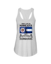 LIVE IN MINNESOTA BEGAN IN HONDURAS Ladies Flowy Tank thumbnail