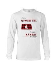 WYOMING GIRL LIVING IN KANSAS WORLD Long Sleeve Tee thumbnail